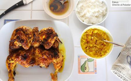 Cómo preparar un sabroso pollo asado al estilo tailandés, con cúrcuma (y un poco picantito)