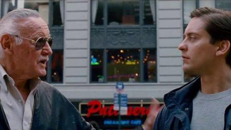 Stan Lle con Peter Parker