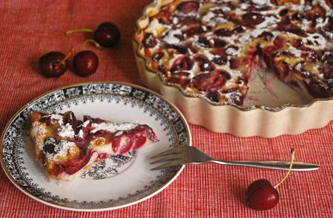 Clafoutis de cerezas sin lactosa