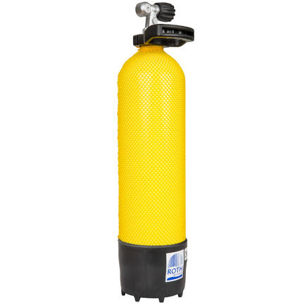 BOTELLA BUCEO ROTH MIONS 6 L 230 BARES AMARILLO NEGRO