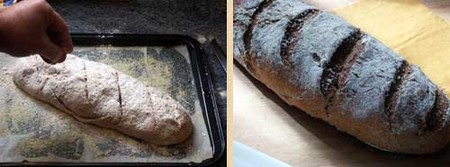 Receta de pan de espelta casero, acabado