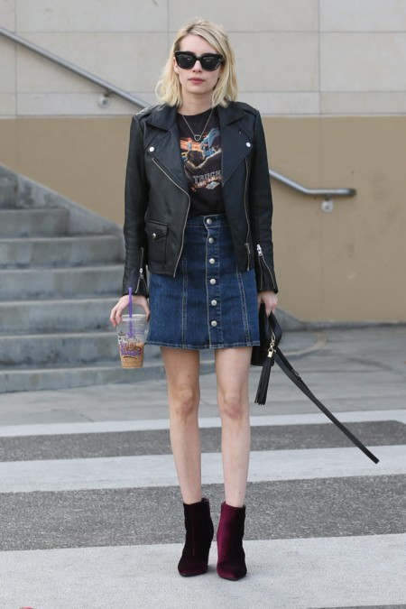 Emma Roberts Look Rockero