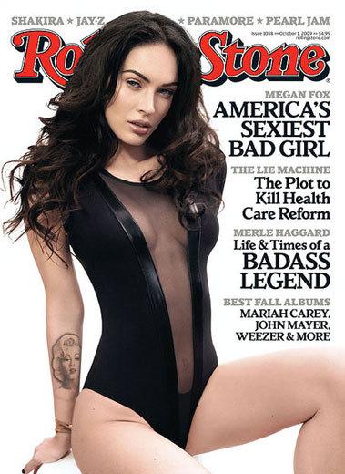 Megan Fox muy sexy para Rolling Stone pero rodeada de polémica