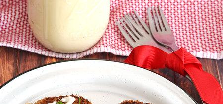 Tortitas de berenjena y papa. Receta vegetariana
