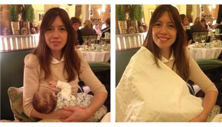 Una madre es obligada a tapar con una servilleta a su bebé mamando en un hotel de Londres
