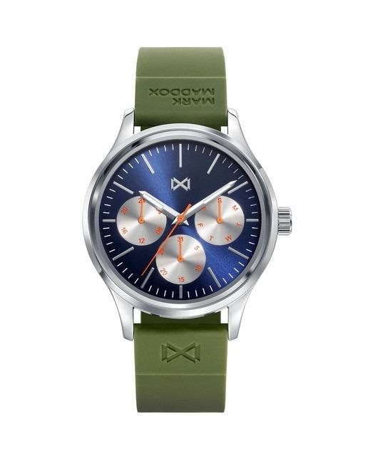 Reloj de Hombre Mark Maddox Village multifunción de acero con correa de silicona