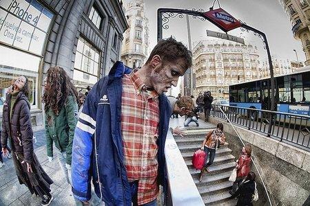 Una invasión de muertos vivientes invade Madrid, la imagen de la semana
