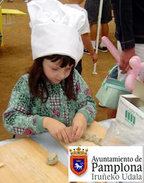 Clases de nutrición y cocina para los niños en los mercados de Pamplona