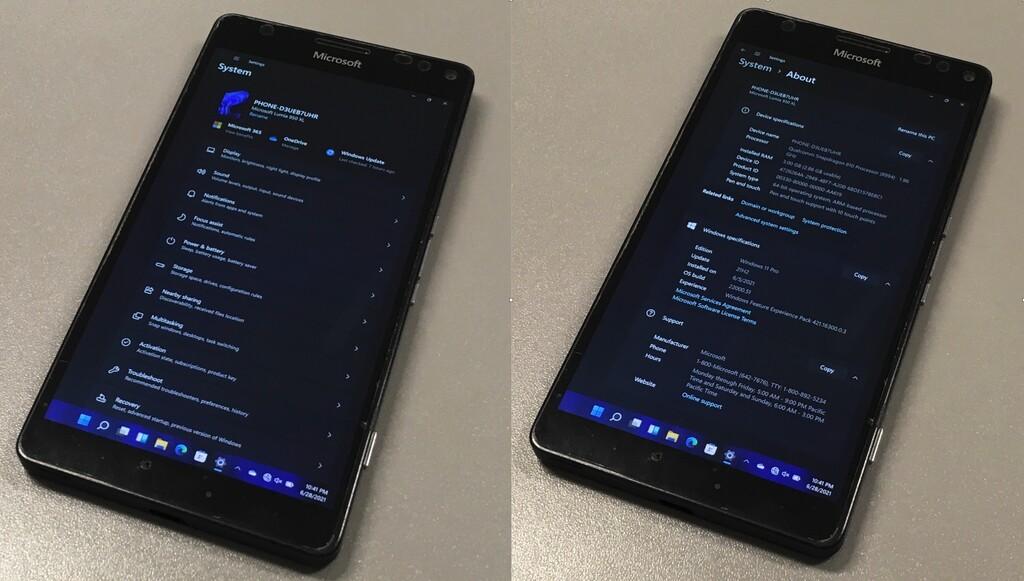 Logran ejecutar Windows 11 completo en el Lumia 950 XL, que se une al club de inmortales de la HTC HD2