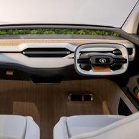 El Tata Sierra EV Concept es un SUV eléctrico de interior minimalista que renuncia a las pantallas digitales
