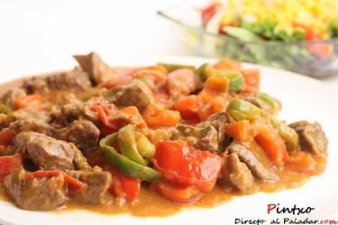 Curry de carne con tomate. Receta
