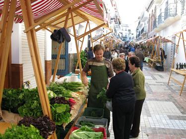 Frutas, verduras y  buñuelos ecológicos en Alhaurín el grande
