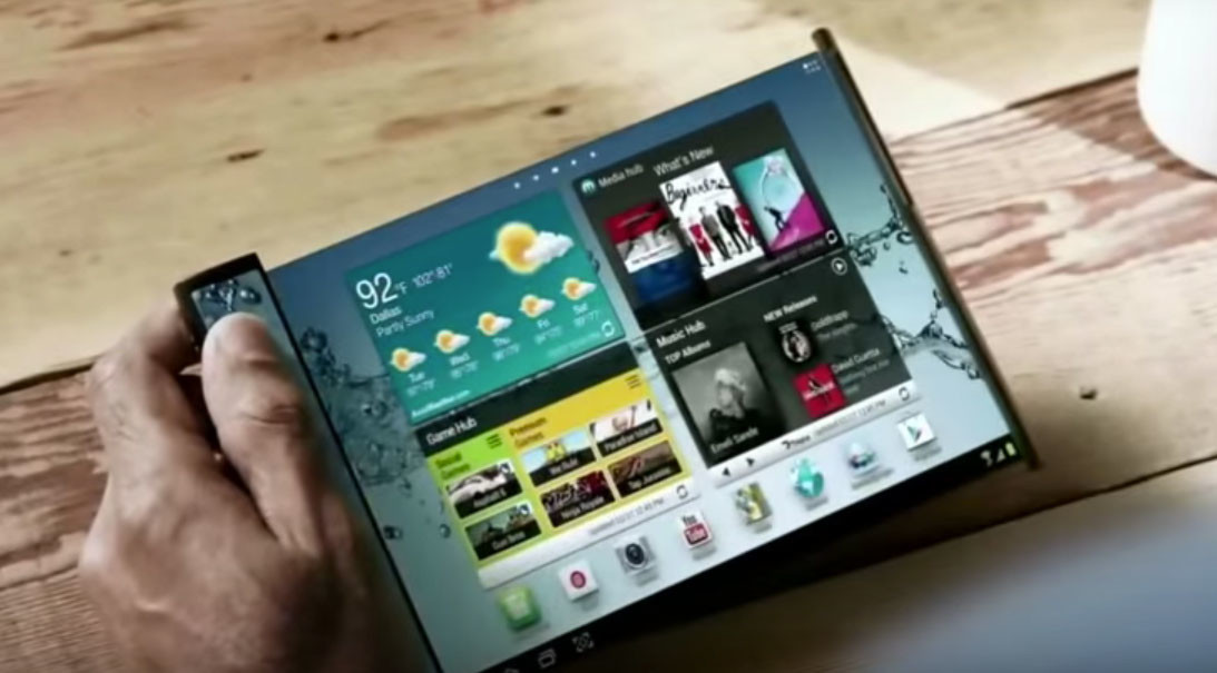 Un teléfono que se convierte en una tableta de 7 pulgadas, así sería el primer dispositivo plegable de Samsung