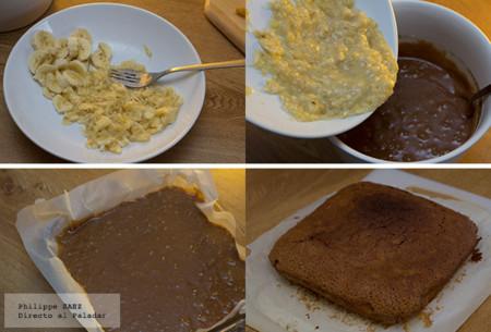 Brownies de plátano