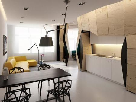 Un muro polifacético para organizar un apartamento - 4
