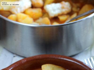 Patatas con bacalao. Receta