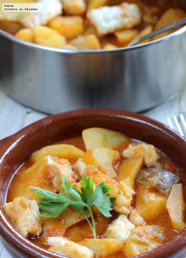 Patatas con bacalao receta - Bacalao con garbanzos y patatas ...