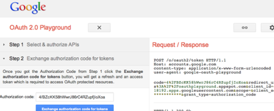 OAuth 2.0 playground, Google nos da juego