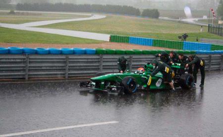 Heikki Kovalainen probó ayer nuevas piezas del Caterham CT03 en Magny Cours