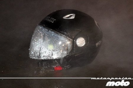 Prueba de agua del manos libres de moto