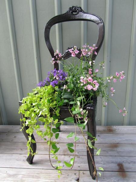 Un silla florero