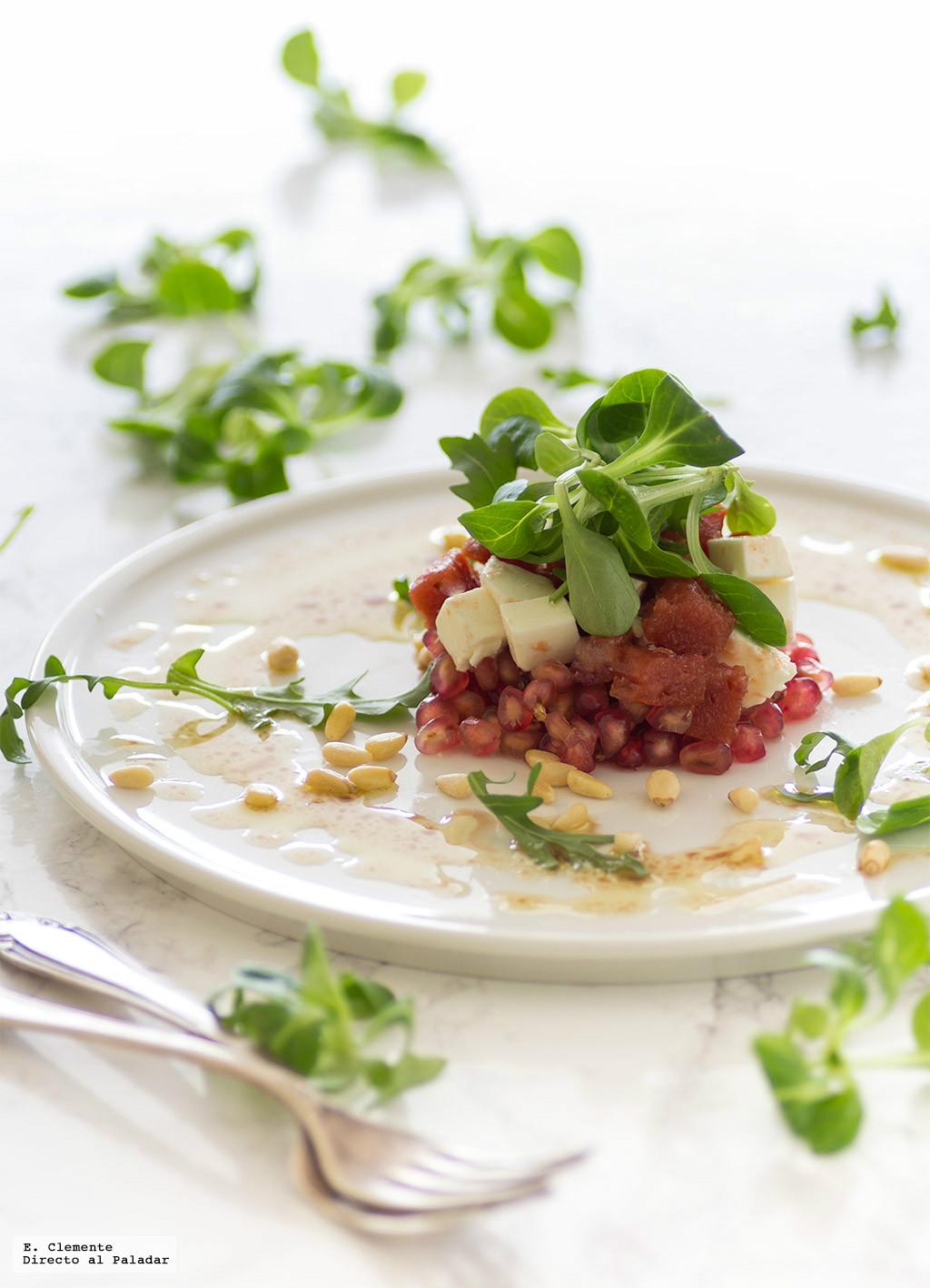 Ensalada de granada membrillo y queso de oveja receta - Las mejores ensaladas ...