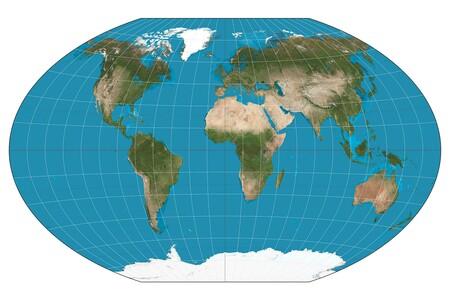 Mapa del mundo Winkel-Tripel.