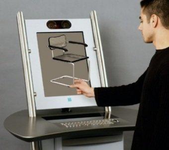 Kiosko con imágenes en 3D