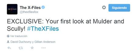 Mulder y Scully en el rodaje del revival de 'Expendiente X', la imagen de la semana