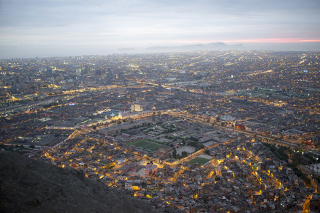 Cityscape And Overview Of Lima Peru