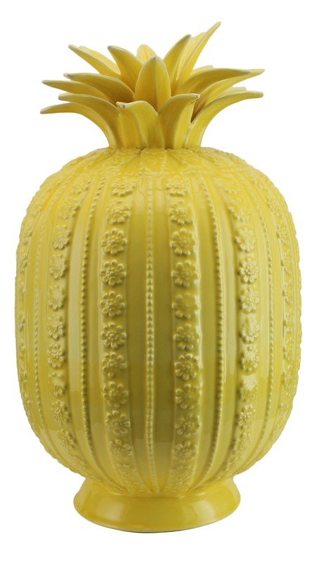Yellow Ceramic Pineapple Decorative Ornament Gbp30 00