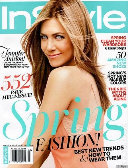 Jennifer Aniston, muy primaveral y más sosa que un día sin pan para la revista In Style