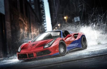 El Ferrari 488 Spider de Spider-Man