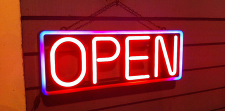 Open Sign Blog