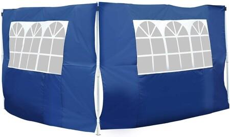 Outsunny 2 Paredes Parte Laterales Para Carpa 3x2 Lado Parasol De Gazebo Tela Oxford Con Ventana Medidas Apto Para 3x3 3x6 Azul