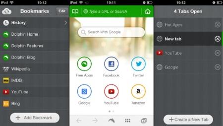 El navegador Dolphin se renueva en su versión para iOS estrenando nueva interfaz