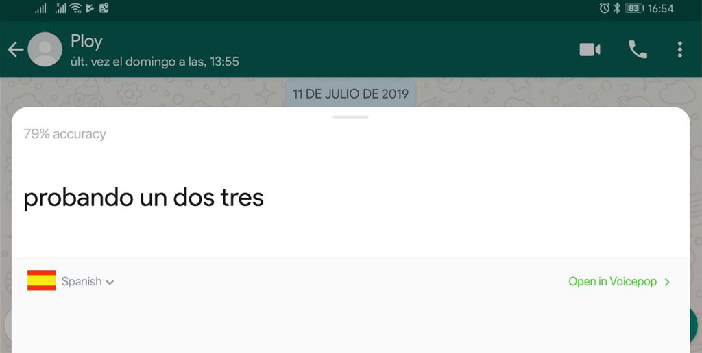 Make voice notes from WhatsApp on text easily with Voicepop