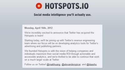 Twitter compra Hotspots.io, una empresa de análisis de social media