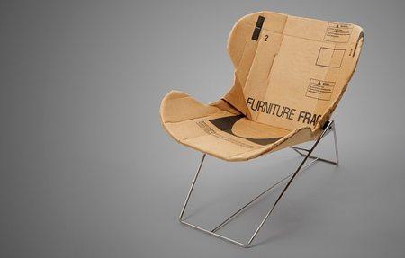 Muebles de cartón, al fin una silla con estilo