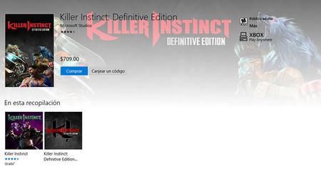 Killer Instinct Definitive Edition Tienda