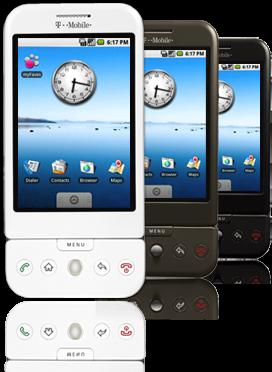 T-Mobile G1 White, cuestión de color