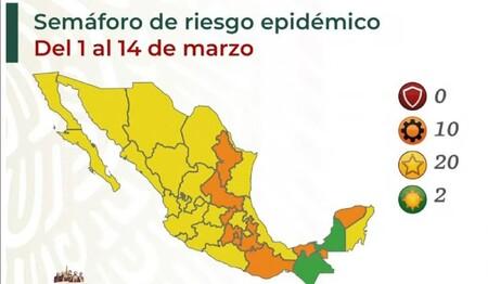 Ya no queda ni un semáforo en rojo por COVID en México, y Campeche vuelve a color verde por bajo riesgo de contagio