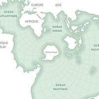 La proyección de Spilhaus, el mapa que coloca a los océanos en el centro de nuestra mirada