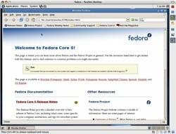 Fedora Core 6 Linux listo para usar en Parallels