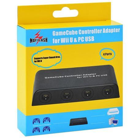 Nuevo Adaptador De Gamecube Para Wii U Con Soporte Para Cuatro Mandos 01