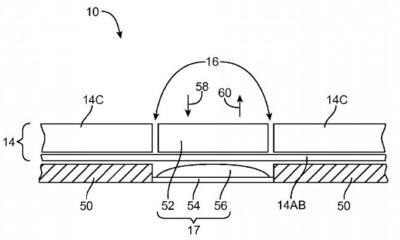 Apple patenta una pantalla flexible que se deforma para ofrecer botones y sensores de presión