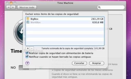 Cómo excluir contenido en las copias de seguridad de Time Machine