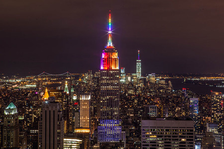 Empire State Building In Rainbow Colors For Gay Pride 2015 19258537982
