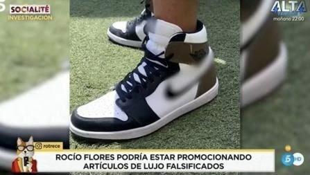 Las supuestas zapas falsas de Rocío Flores