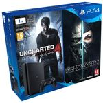 Sony PlayStation 4 Slim 1TB + Uncharted 4 + Dishonored 2 por 309,99 euros